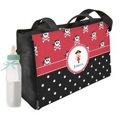 Girl's Pirate & Dots Diaper Bag (Personalized)