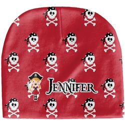 Girl's Pirate & Dots Baby Hat (Beanie) (Personalized)