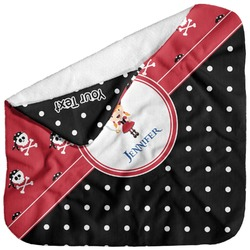 Girl's Pirate & Dots Baby Hooded Towel (Personalized)
