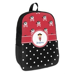 Girl's Pirate & Dots Kids Backpack (Personalized)