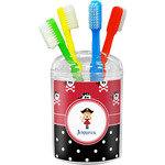 Girl's Pirate & Dots Toothbrush Holder (Personalized)