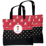 Girl's Pirate & Dots Beach Tote Bag (Personalized)