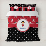 Girl's Pirate & Dots Duvet Cover (Personalized)
