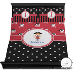 Girl's Pirate & Dots Duvet Covers (Personalized)
