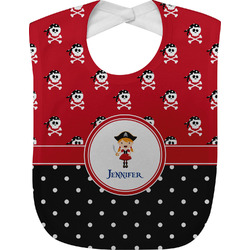 Girl's Pirate & Dots Baby Bib (Personalized)