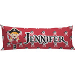 Girl's Pirate & Dots Body Pillow Case (Personalized)