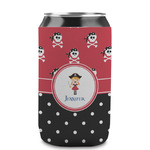 Girl's Pirate & Dots Can Sleeve (12 oz) (Personalized)