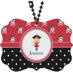 Girl's Pirate & Dots Rear View Mirror Charm (Personalized)
