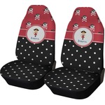 Girl's Pirate & Dots Car Seat Covers (Set of Two) (Personalized)