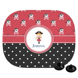 Girl's Pirate & Dots Car Side Window Sun Shade (Personalized)