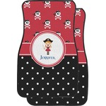 Girl's Pirate & Dots Car Floor Mats (Front Seat) (Personalized)