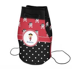 Girl's Pirate & Dots Neoprene Drawstring Backpack (Personalized)