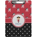 Girl's Pirate & Dots Clipboard (Personalized)