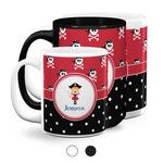 Girl's Pirate & Dots Coffee Mugs (Personalized)