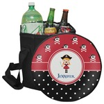 Girl's Pirate & Dots Collapsible Cooler & Seat (Personalized)
