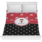 Girl's Pirate & Dots Comforter (Personalized)