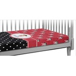 Girl's Pirate & Dots Crib Fitted Sheet (Personalized)