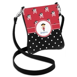 Girl's Pirate & Dots Cross Body Bag - 2 Sizes (Personalized)