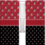 Girl's Pirate & Dots Curtains (2 Panels Per Set) (Personalized)