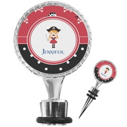 Girl's Pirate & Dots Wine Bottle Stopper (Personalized)