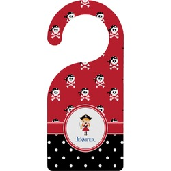 Girl's Pirate & Dots Door Hanger (Personalized)