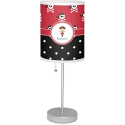 """Girl's Pirate & Dots 7"""" Drum Lamp with Shade (Personalized)"""