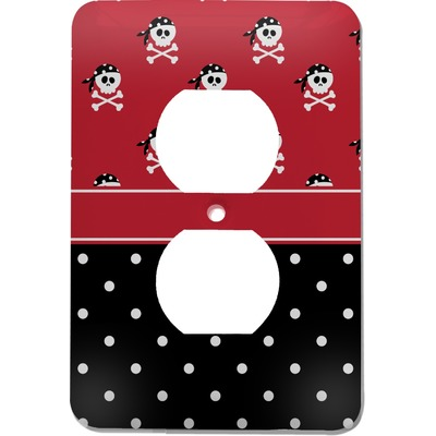 Girl's Pirate & Dots Electric Outlet Plate (Personalized)