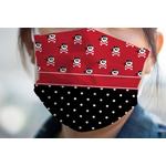 Girl's Pirate & Dots Face Mask Cover (Personalized)
