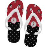 Girl's Pirate & Dots Flip Flops (Personalized)