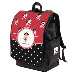Girl's Pirate & Dots Backpack w/ Front Flap  (Personalized)
