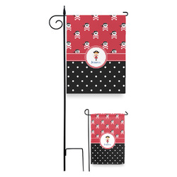 Girl's Pirate & Dots Garden Flag (Personalized)