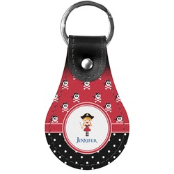 Girl's Pirate & Dots Genuine Leather  Keychains (Personalized)