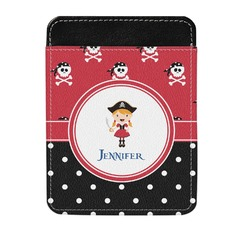 Girl's Pirate & Dots Genuine Leather Money Clip (Personalized)