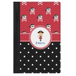 Girl's Pirate & Dots Genuine Leather Passport Cover (Personalized)
