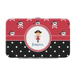 Girl's Pirate & Dots Genuine Leather Small Framed Wallet (Personalized)