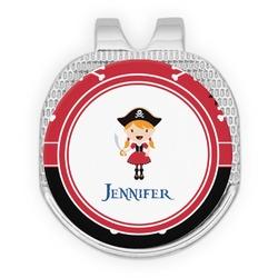 Girl's Pirate & Dots Golf Ball Marker - Hat Clip