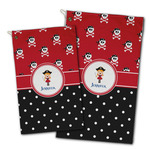 Girl's Pirate & Dots Golf Towel - Full Print w/ Name or Text