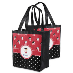 Girl's Pirate & Dots Grocery Bag (Personalized)