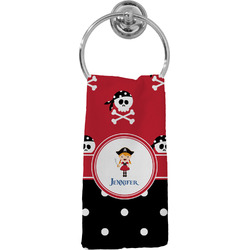Girl's Pirate & Dots Hand Towel - Full Print (Personalized)