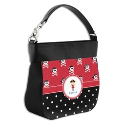 Girl's Pirate & Dots Hobo Purse w/ Genuine Leather Trim (Personalized)