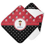 Girl's Pirate & Dots Hooded Baby Towel (Personalized)