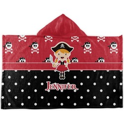Girl's Pirate & Dots Kids Hooded Towel (Personalized)