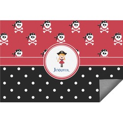 Girl's Pirate & Dots Indoor / Outdoor Rug - 8'x10' (Personalized)