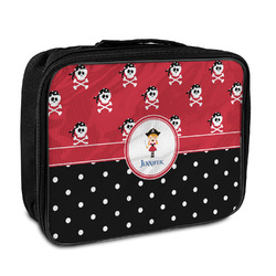 Girl's Pirate & Dots Insulated Lunch Bag (Personalized)