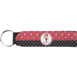 Girl's Pirate & Dots Keychain Fob (Personalized)
