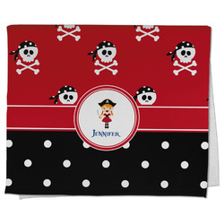 Girl's Pirate & Dots Kitchen Towel - Full Print (Personalized)