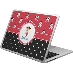Girl's Pirate & Dots Laptop Skin - Custom Sized (Personalized)