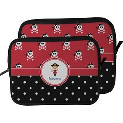 Girl's Pirate & Dots Laptop Sleeve / Case (Personalized)