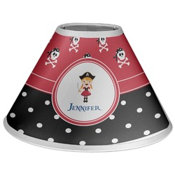 Girl's Pirate & Dots Coolie Lamp Shade (Personalized)