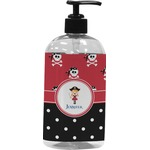 Girl's Pirate & Dots Plastic Soap / Lotion Dispenser (Personalized)
